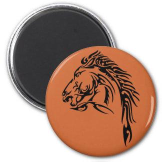 Tribal Horse 6 Cm Round Magnet