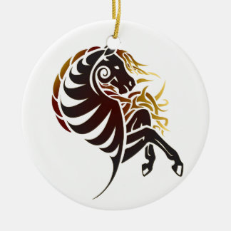 Tribal Horse Christmas Ornament