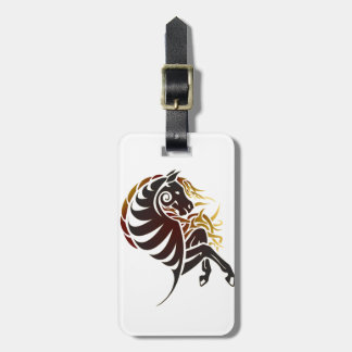 Tribal Horse Luggage Tag