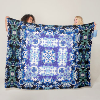 Tribal Hunter Camo Plush Mandala Quilt Fleece Blanket