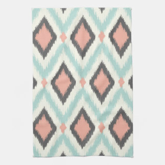 Tribal Ikat Chevron Tea Towel