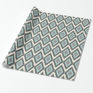 Tribal Ikat Chevron Wrapping Paper