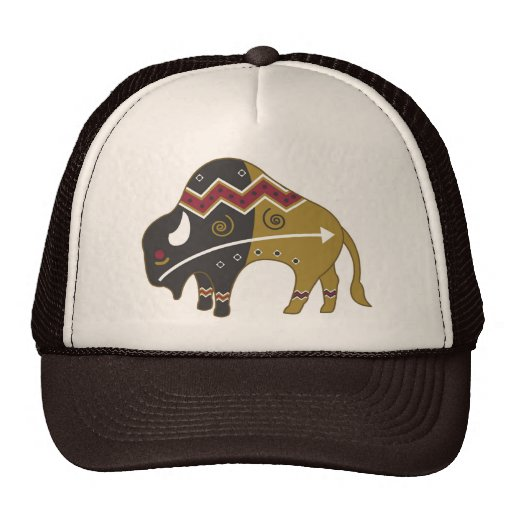 Tribal Indian Buffalo Cap