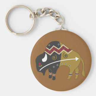 Tribal Indian Buffalo Key Ring