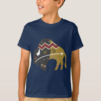 Tribal Indian Buffalo T-Shirt