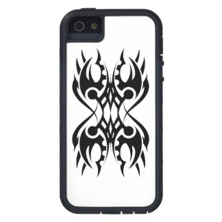 tribal iphone 18 black to over white iPhone 5 case