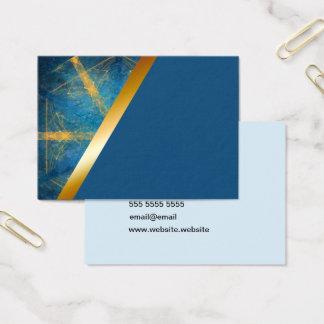 Tribal kaleidoscope and dark blue 2 business card