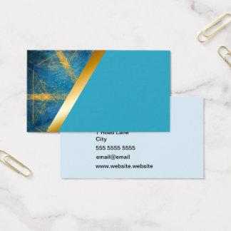 Tribal kaleidoscope and light blue 5 business card