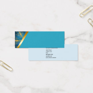 Tribal kaleidoscope and light blue 6 business card