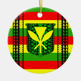 Tribal Kanaka Maoli Flag Christmas Ornament
