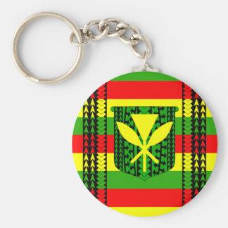 Tribal Kanaka Maoli Flag Key Ring