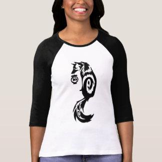 Tribal Kitsune Fox with Spirit Lantern T-Shirt
