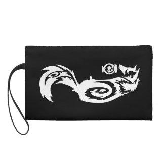 Tribal Kitsune Fox with Spirit Lantern Wristlet Purses
