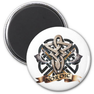 Tribal Knot viking A 6 Cm Round Magnet