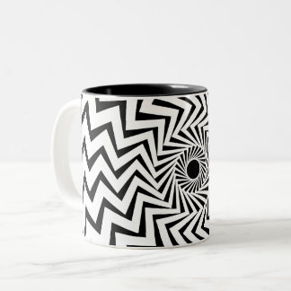 Tribal Lightning Bolt Two-Tone Coffee Mug