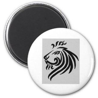 TRIBAL LION 6 CM ROUND MAGNET