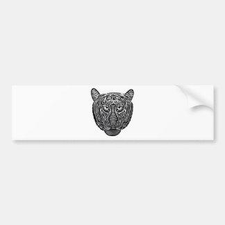 Tribal Lion Bumper Sticker