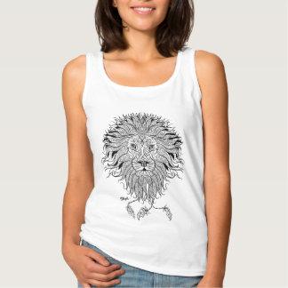 Tribal Lion Femme Tank Top