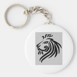 TRIBAL LION BASIC ROUND BUTTON KEY RING