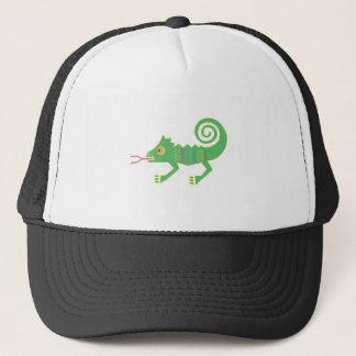 tribal lizard design trucker hat