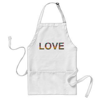 Tribal Love Word Art Standard Apron