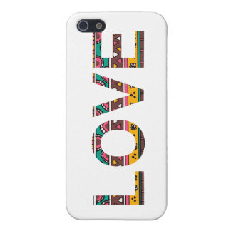 Tribal Love Word Art iPhone 5 Case