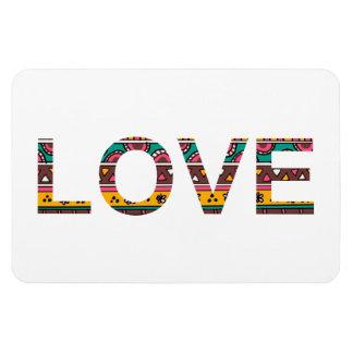 Tribal Love Word Art Vinyl Magnet