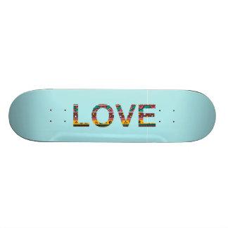 Tribal Love Word Art Skate Board Deck