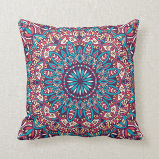 Tribal mandala ornament. Throw Pillow. Cushion