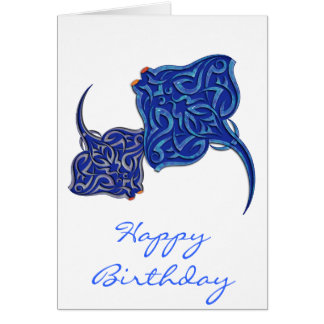 Tribal Manta Rays Card