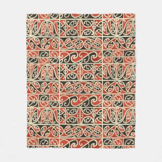 Tribal Maori Kowhaiwhai Koru New Zealand Pattern Fleece Blanket