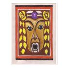 Tribal Mask Postcard
