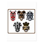 Tribal Masks Postcards