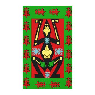 Tribal Mayan Frog Canvas Print