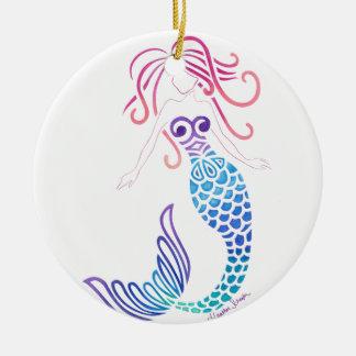 Tribal Mermaid Round Ceramic Decoration
