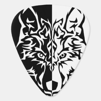 Tribal Modern Wolf Guitar Pick