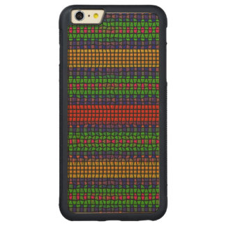 Tribal mosaic carved maple iPhone 6 plus bumper case