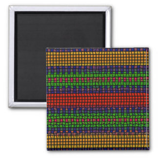 Tribal mosaic refrigerator magnets