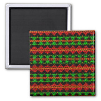 Tribal mosaic pattern magnets