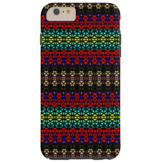 Tribal mosaic pattern tough iPhone 6 plus case