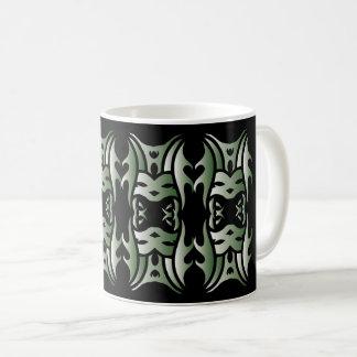 Tribal mug 11 green to over black