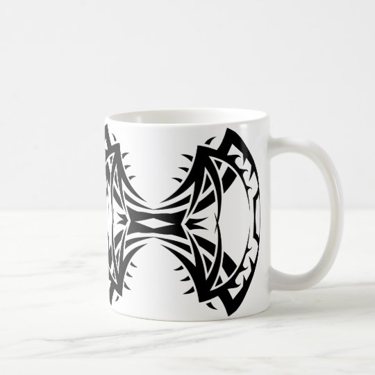 Tribal mug 14 black and white