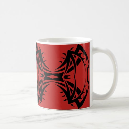 Tribal mug 14 black to over network