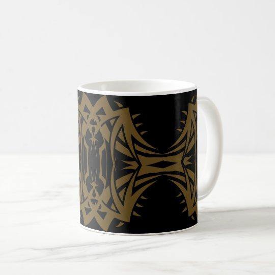 Tribal mug 14 gold to over black