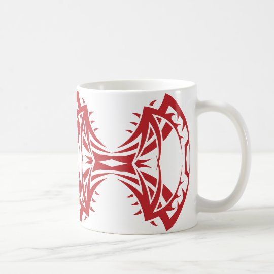 Tribal mug 14 network to over white