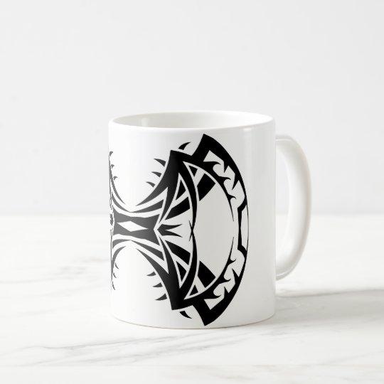 Tribal mug 14 single black to over white