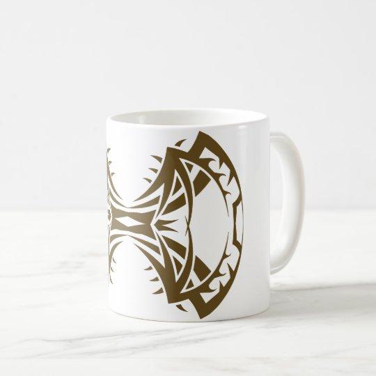 Tribal mug 14 single gold to over white