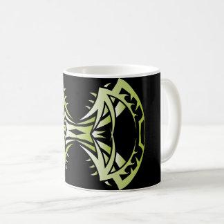 Tribal mug 14 single green to over black