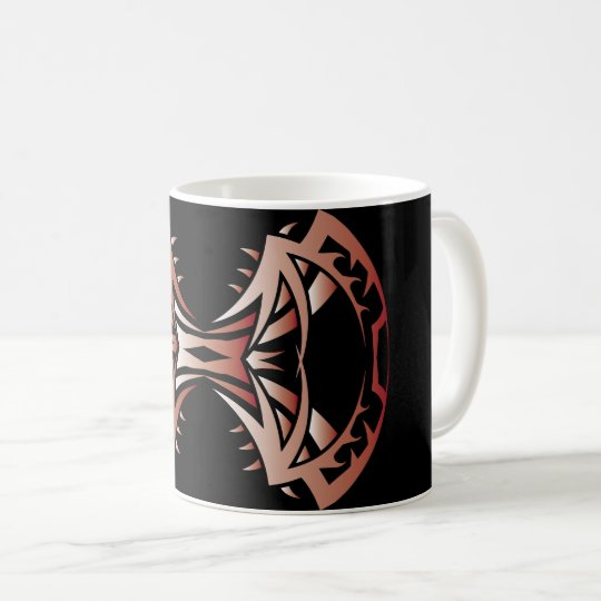 Tribal mug 14 single network colors to over black