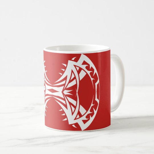 Tribal mug 14 single white to over network